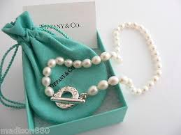 pearls necklace tiffany images Tiffany co silver pearl necklace strand toggle clasp chain 16 5 jpeg