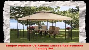 Bbq Gazebo Walmart by Sunjoy Walmart Us Athena Gazebo Replacement Canopy Set Youtube