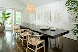 wood slab dining table dining room contemporary with bertoia bar
