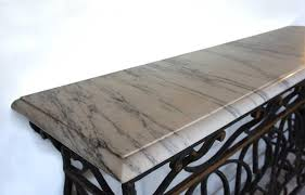 Marble Console Table French Marble Top Wrought Iron Balcony As A Console Table From