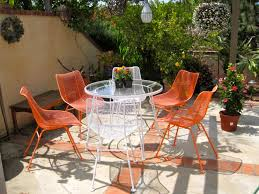 How To Paint Wrought Iron Patio Furniture by Exterior Exciting Adjustable Chaise Lounge By Woodard Furniture