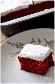 red velvet sheet cake with italian meringue frosting droolfactor