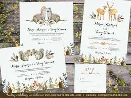 wedding invitations johnson city tn woodland animals deer otter squirrel wedding invitations a