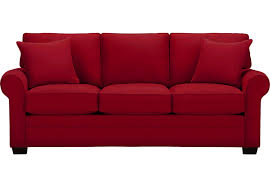 Red Sofas In Living Room Cindy Crawford Home Bellingham Cardinal Sofa Sofas Red