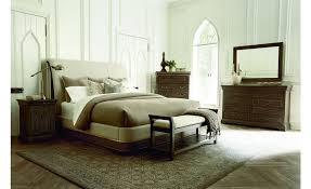 Platform Sleigh Bed A R T Furniture St Germain California King Upholstered Platform