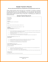 Resume Samples Of Teachers by 4 Resume Samples For Teachers Manager Resume