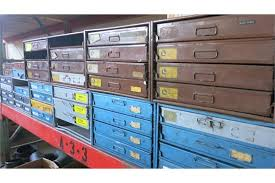 Cabinet Drawer Parts Lot Lawson Kimball U0026 Bowman 10 Metal Parts 4 Drawers Cabinet With