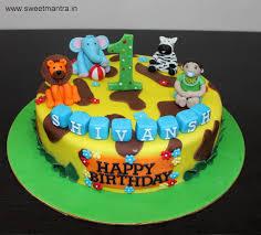 jungle theme cake animal jungle theme customized designer fondant cake for boy s