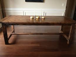 How To Build A Farmhouse Dining Room Table - Build dining room table