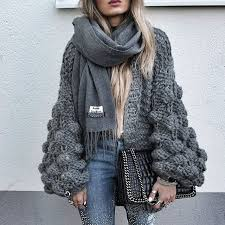 oversized chunky knit sweater chunky cardigans oversized knitted sweater grey or beige the style