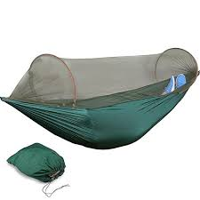wovte outdoor camping hammock with mosquito net portable folding