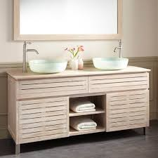 60 Inch Bathroom Vanity Double Sink by Bathroom Teak Whitewash Bathroom Vanity Cabinet With Double