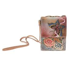 anuschka premium antique anuschka women s mini sling organizer premium antique