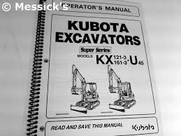 kubota kx series publications
