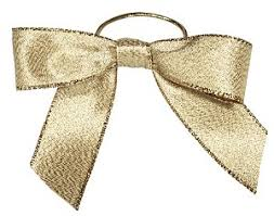 pre bows bows with stretch loops metallic gold 6 in qty 200