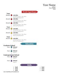 Timeline Resume Template colorful timeline resume template