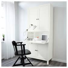 Hemnes Bureau With Add On Unit White Stain 89x198 Cm Ikea Ikea Bureau