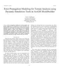 error propagation modeling for terrain analysis using dynamic