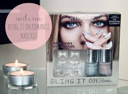 review nails inc bling it on romance kit couture