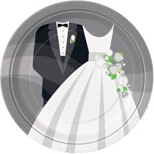 and groom plates 9 silver wedding dinner plates 8pk walmart