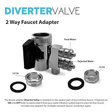 Kitchen Faucet Adapters Express Water Undersink Chrome 2 Way Faucet Adapter Diverter Valve