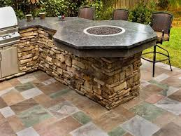 rustic outdoor kitchen ideas rustic outdoor kitchen with flooring tiles for chic look