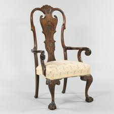 Queen Armchair A Large Queen Anne Style Arm Chair 09 08 12 Sold 356 5