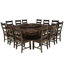 Dining Table And Chairs Set Pioneer Solid Wood Lazy Susan Pedestal Dining Table Chair Set