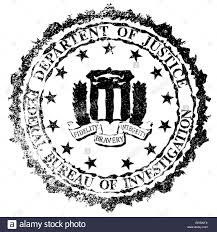 federal bureau of the seal of the federal bureau of information as a rubber st
