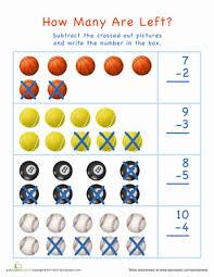 visual subtraction kindergarten easter worksheets education com