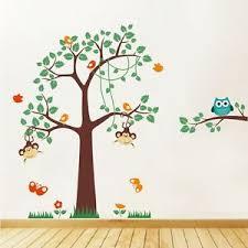 Monkey Decor For Nursery Wall Decor Cheeky Monkey Wall Stickers Nursery Swinging