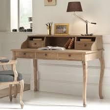 bureau avec rangement meuble de bureau avec tiroirs chêne massif patiné medicis