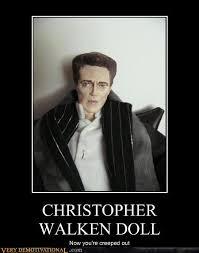 Christopher Walken Meme - christopher walken doll very demotivational demotivational