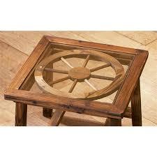 Wagon Wheel Coffee Table by Wagon Wheel End Table 98484 Living Room At Sportsman U0027s Guide