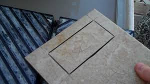 how to cut a in the middle of a tile