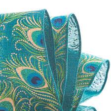 peacock ribbon peacock eye fabric ribbon
