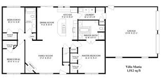 simple floor simple open ranch floor plans style villa house