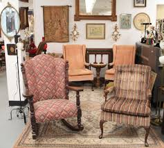 Upholstered Rocking Chair Found In Ithaca Carved Mahogany Barrel Back Rocking Chair