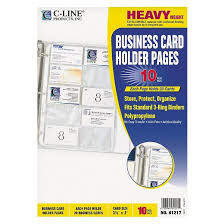 Business Cards In Pages C Line Business Card Binder Pages Holds 20 Cards 8 1 8 X 11 1 4