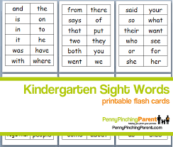 printable kindergarten sight words ppp pick printable kindergarten sight word flash cards
