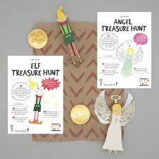 christmas party bag with angel and elf peg doll kits by cotton