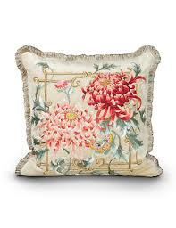 strongwater pillows strongwater chrysanthemum 20 x 20 pillow chinoiserie