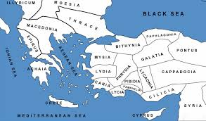 A Map Of Asia by Lesson 19 Map Of Asia Minor And Greece In Roman Times U2014 Shepherd