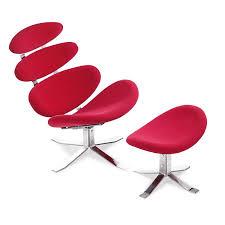 petal modern lounge chair ottoman eurway furniture