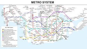 Los Angeles Metro Rail System Map by February 2012 Fiction City