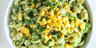 best avocado pesto pasta salad with fresh corn recipe delish com