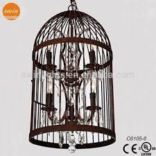 Industrial Crystal Chandelier Vintage Industrial Pendant Lighting Bird Cage Light C6105 6