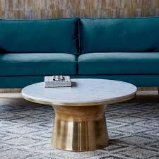 marble topped pedestal coffee table west elm uk