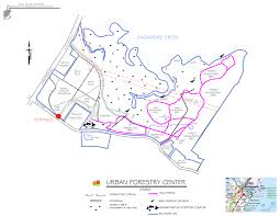 Tecate Mexico Map by Trail Map Of Hiking Trails At Urban Forestry Center Map Courtesy