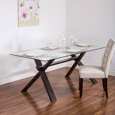 Rectangular Glass Top Dining Room Tables Dining Tables Awesome Rectangle Glass Dining Table Rectangular